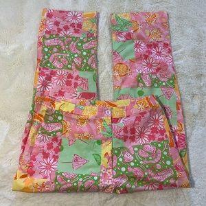 Lilly Pulitzer Festive Vintage Crop Pants Size 2